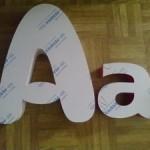 litery blokowe 3d plexi