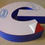 litera 3D plexi dwukolorowa