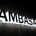 litery 3d AMBASADA (Warszawa)
