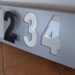 kaseton dibond cyfry 3d led