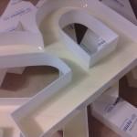 litery blokowe plexi 3D