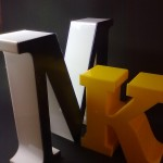 Litery+3D z szeryfami