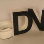 Litery dwukolorowe plexi 3D