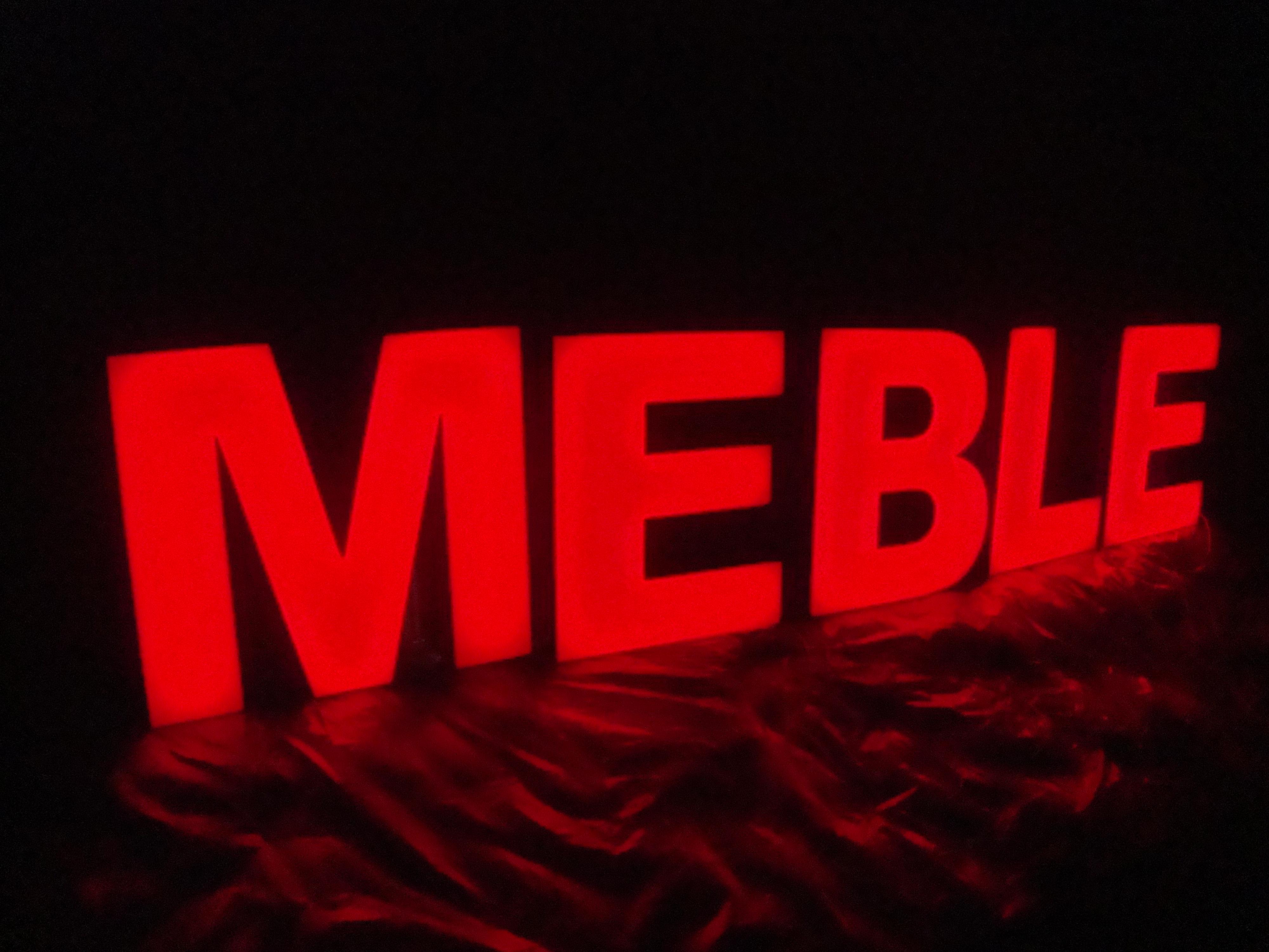 70cm czarne boki czerwone fronty